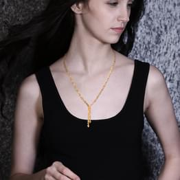 Evita Faceted Disc Necklace