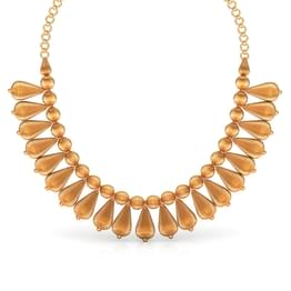 Whorl Drop Gold Necklace