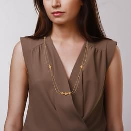 Dainty Bead Gold Necklace