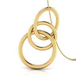 Linked 'O' Gold Pendant