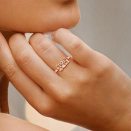 Cylindrical Filigree Ring