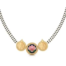 Geeti Lotus and Coin Gold Mangalsutra