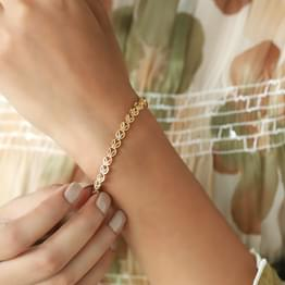 Juana Leaf Linked Bracelet
