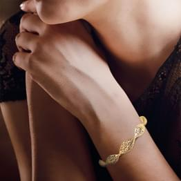 Intricate Filigree Gold Bracelet