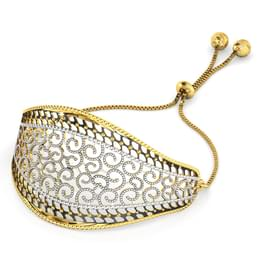 Scroll Filigree Gold Bracelet