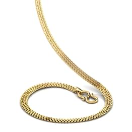Wide Box Gold Chain