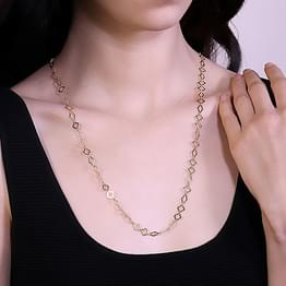 Cutout 3 in1 Link Gold Chain