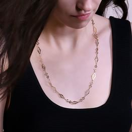 Pattern Cutout Link Gold Chain