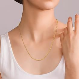 Linear Link Gold Chain