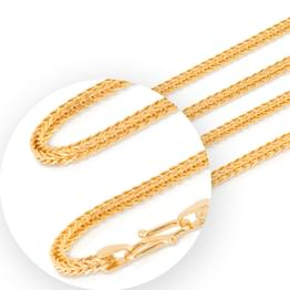 Knit Foxtail Gold Chain